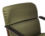 Protective upholstered backrest cover
